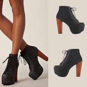 Jeffrey Campbell Lita Platform Boot Size 8.5 Black